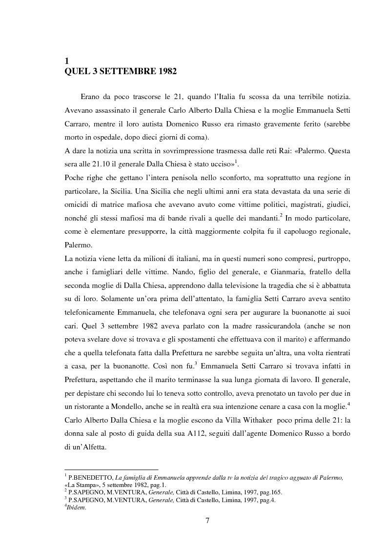 Anteprima della tesi: Mass media e memoria: gli attentati Dalla Chiesa, Falcone e Borsellino, Pagina 7