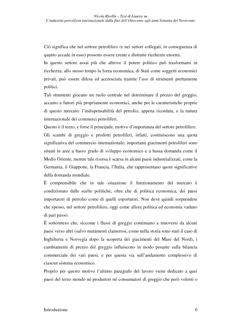 Anteprima della tesi: L'industria petrolifera internazionale dalla fine dell'800 agli anni Settanta del 900 - Imprese, mercati, shock, Pagina 3