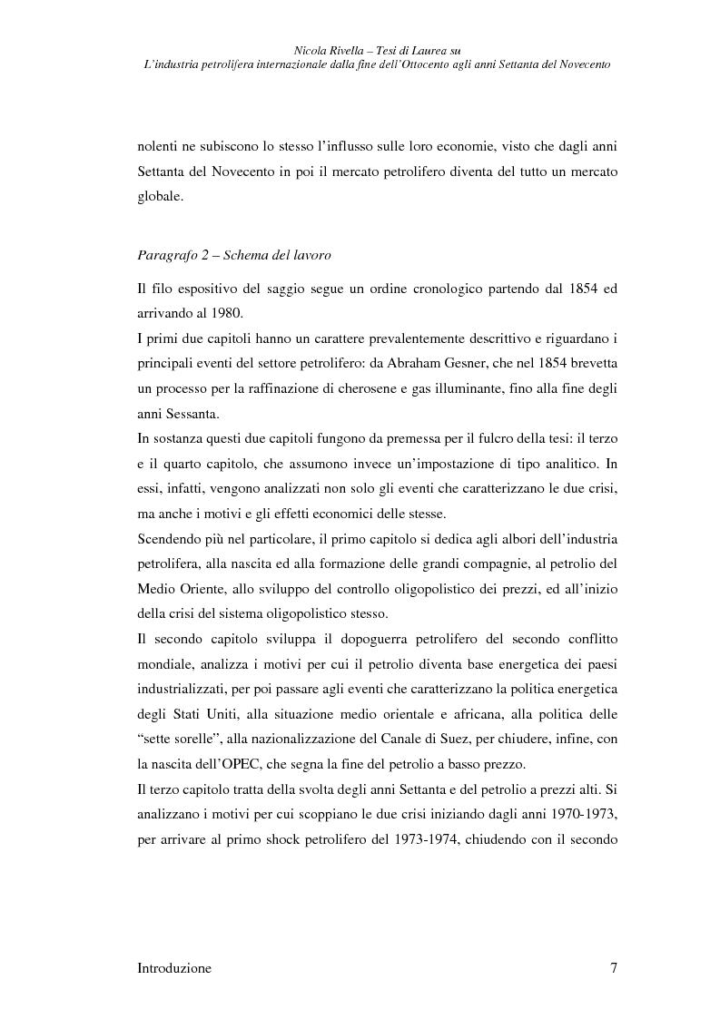 Anteprima della tesi: L'industria petrolifera internazionale dalla fine dell'800 agli anni Settanta del 900 - Imprese, mercati, shock, Pagina 4