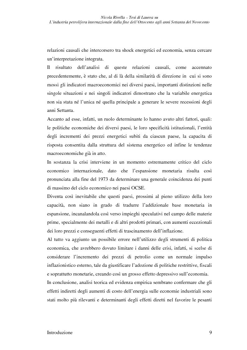 Anteprima della tesi: L'industria petrolifera internazionale dalla fine dell'800 agli anni Settanta del 900 - Imprese, mercati, shock, Pagina 6