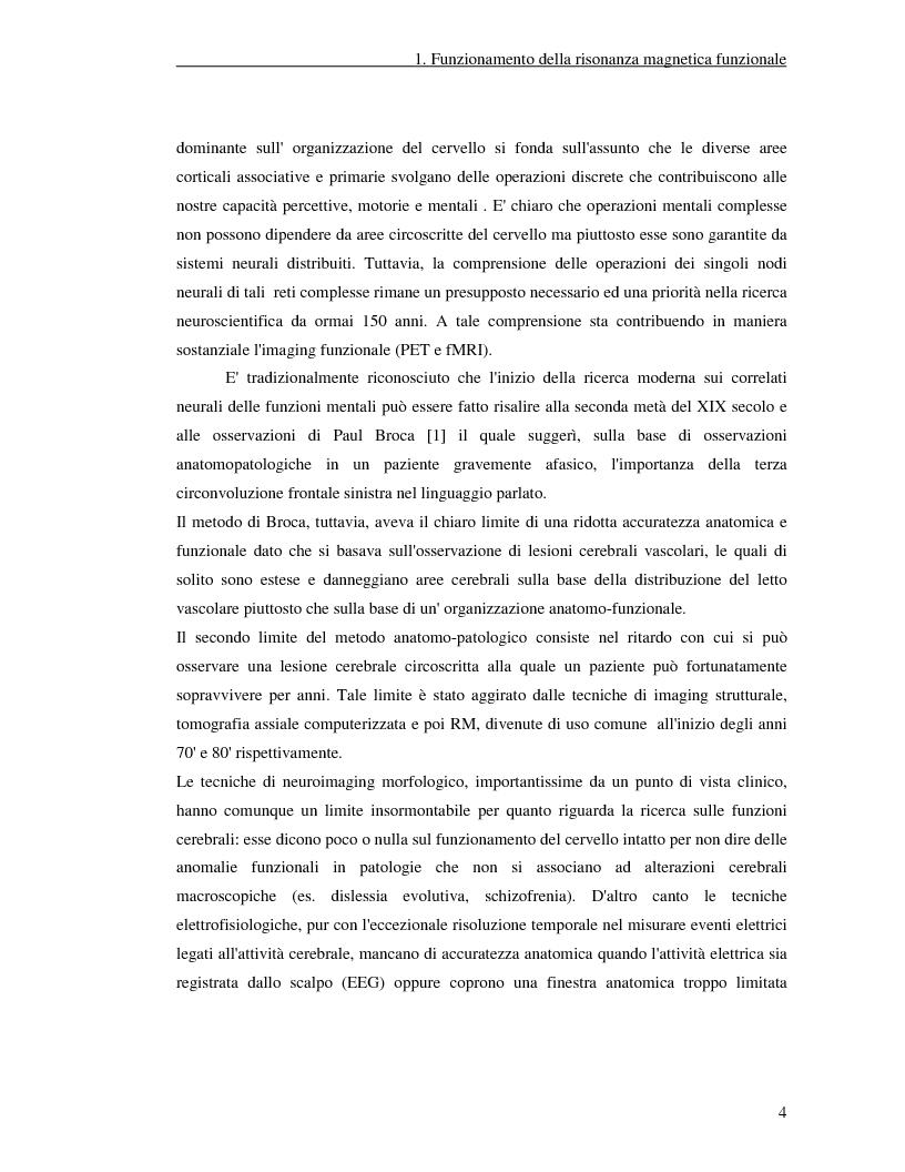Anteprima della tesi: Un nuovo approccio di utilizzo della trasformata wavelet ridondante per l'analisi dei dati fMRI, Pagina 2