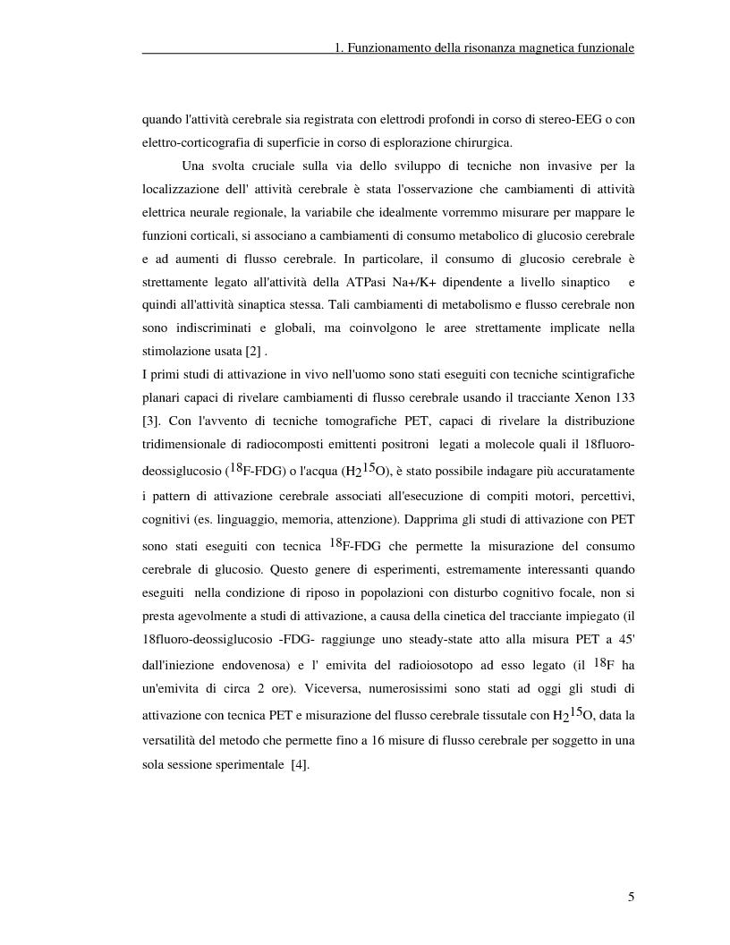 Anteprima della tesi: Un nuovo approccio di utilizzo della trasformata wavelet ridondante per l'analisi dei dati fMRI, Pagina 3