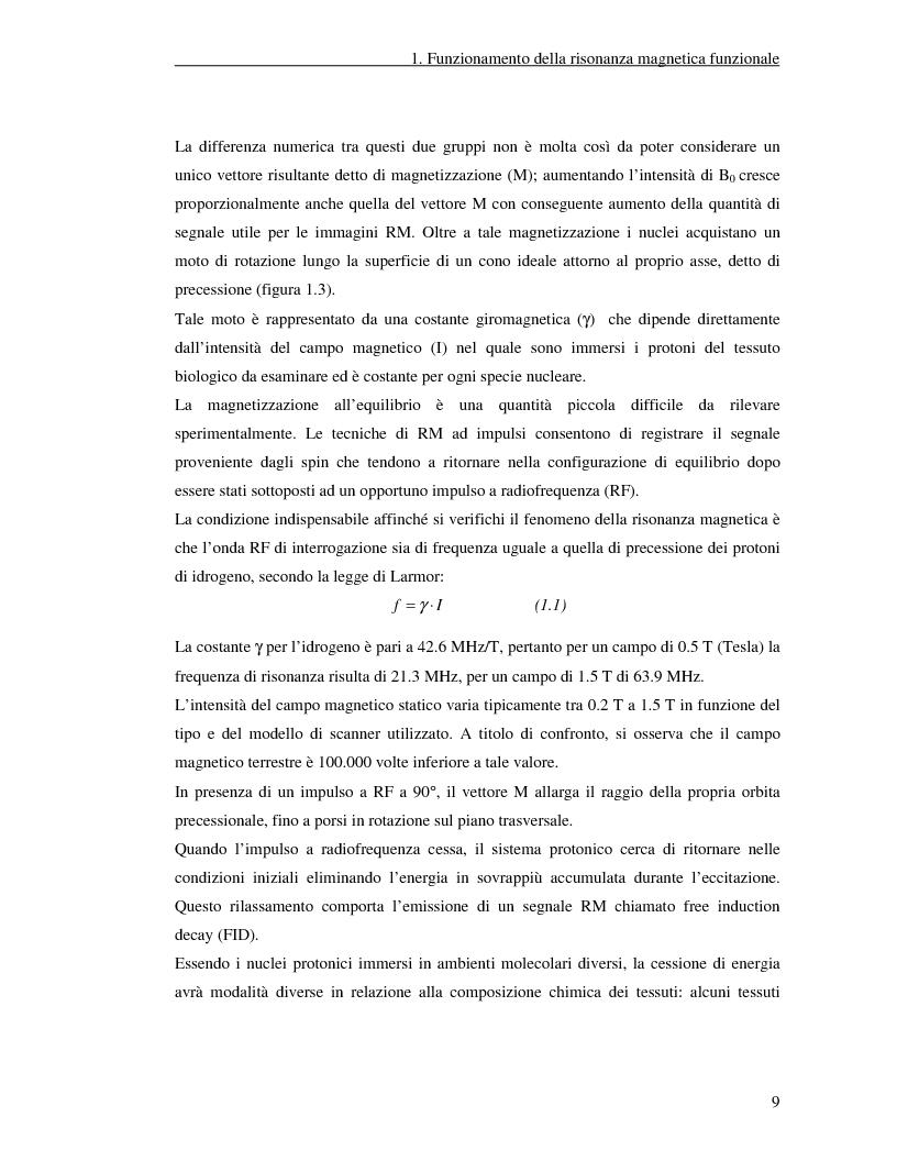 Anteprima della tesi: Un nuovo approccio di utilizzo della trasformata wavelet ridondante per l'analisi dei dati fMRI, Pagina 7