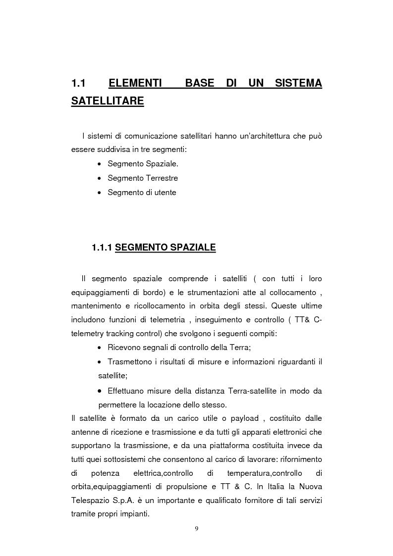 Anteprima della tesi: Dimensionamento dei Sistemi UMTS Satellitari, Pagina 4