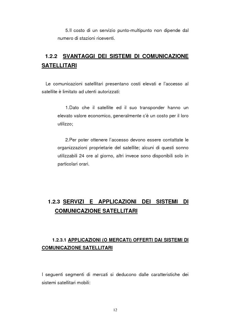 Anteprima della tesi: Dimensionamento dei Sistemi UMTS Satellitari, Pagina 7