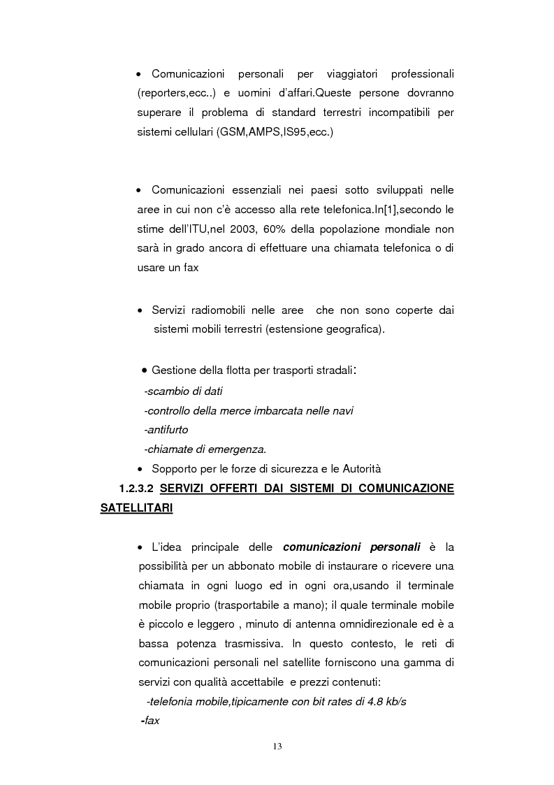 Anteprima della tesi: Dimensionamento dei Sistemi UMTS Satellitari, Pagina 8