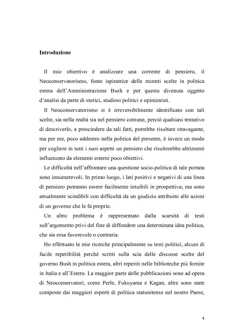Anteprima della tesi: Il Neoconservatorismo negli Stati Uniti d'America, Pagina 1
