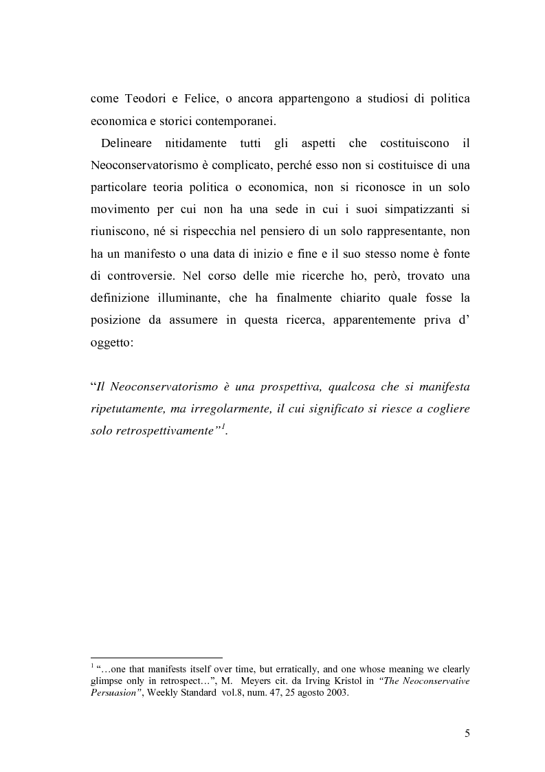 Anteprima della tesi: Il Neoconservatorismo negli Stati Uniti d'America, Pagina 2