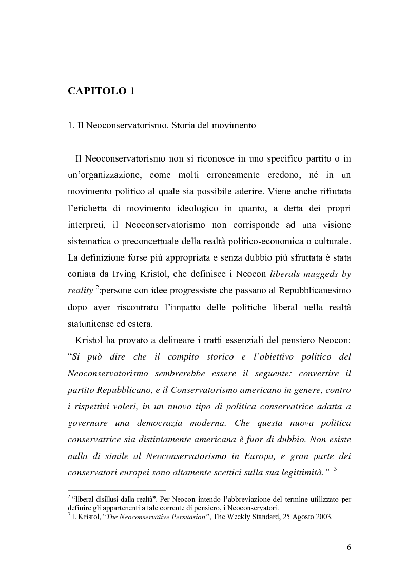 Anteprima della tesi: Il Neoconservatorismo negli Stati Uniti d'America, Pagina 3