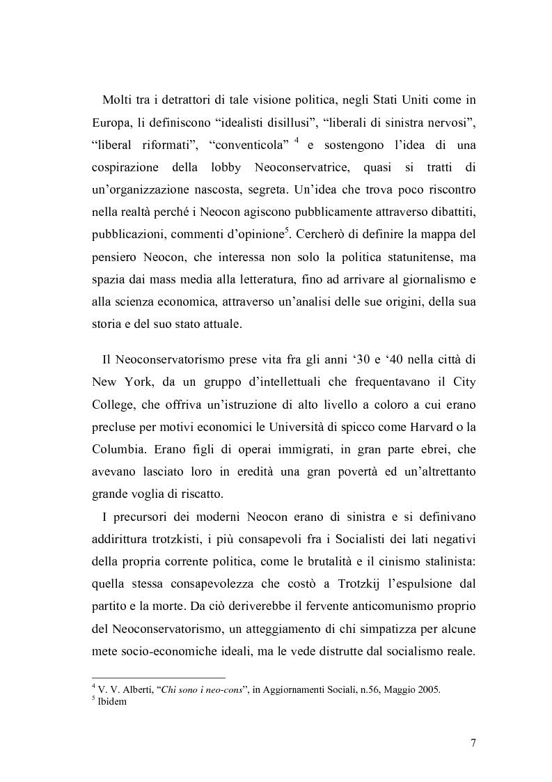 Anteprima della tesi: Il Neoconservatorismo negli Stati Uniti d'America, Pagina 4