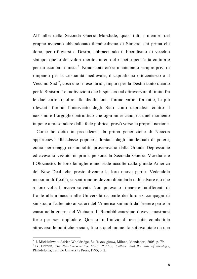 Anteprima della tesi: Il Neoconservatorismo negli Stati Uniti d'America, Pagina 5