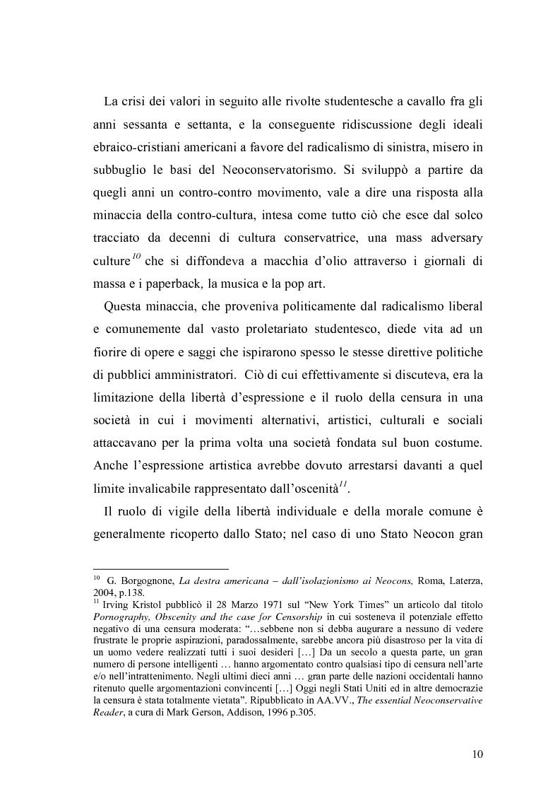Anteprima della tesi: Il Neoconservatorismo negli Stati Uniti d'America, Pagina 7