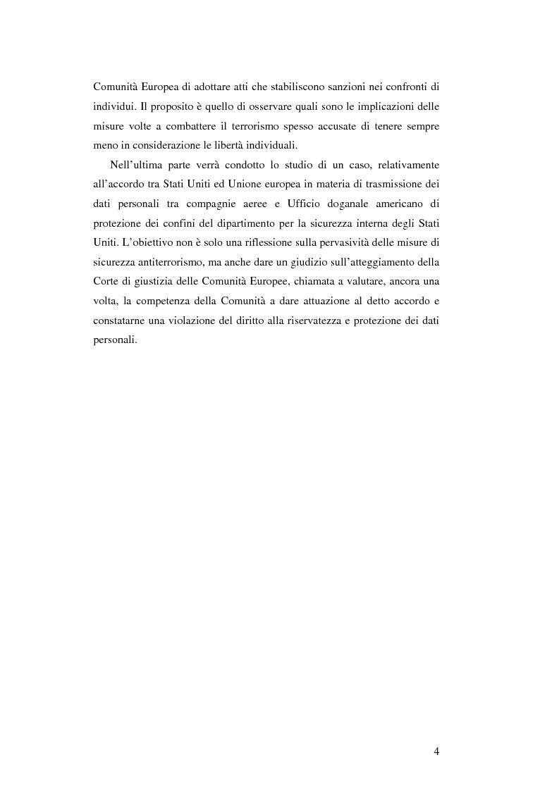 Anteprima della tesi: L'Unione Europea e la lotta al terrorismo: gli atti adottati dopo l'11 settembre, Pagina 2