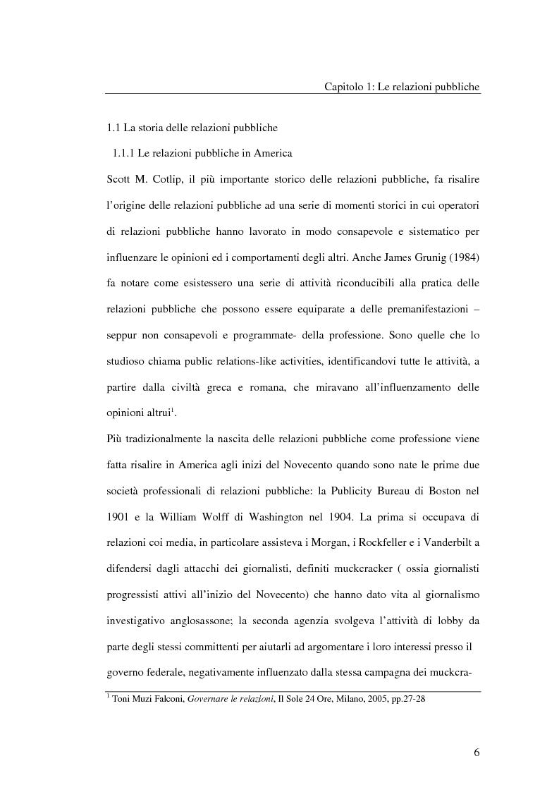 Anteprima della tesi: I metodi delle relazioni pubbliche e il ruolo della professione, Pagina 4