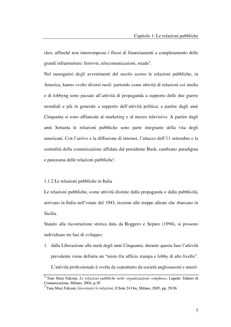 Anteprima della tesi: I metodi delle relazioni pubbliche e il ruolo della professione, Pagina 5