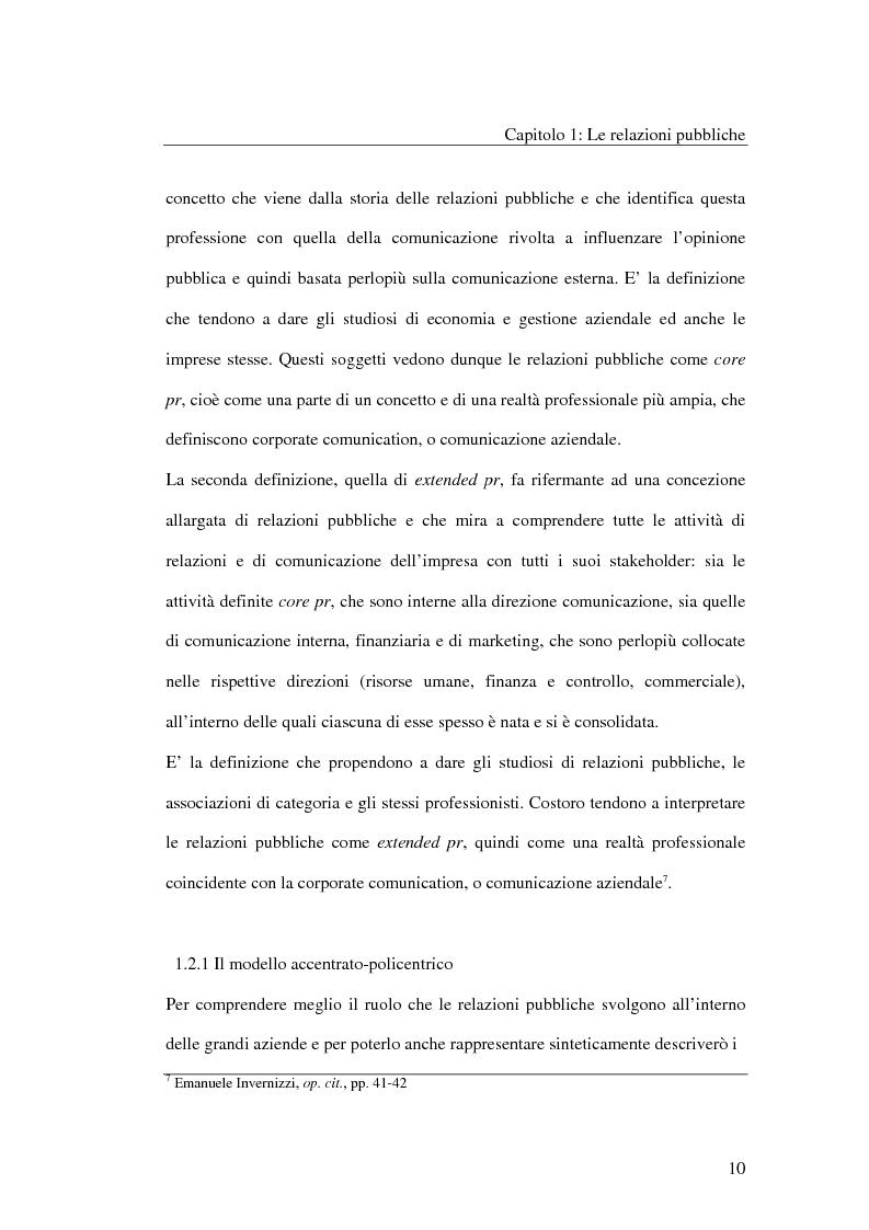 Anteprima della tesi: I metodi delle relazioni pubbliche e il ruolo della professione, Pagina 8