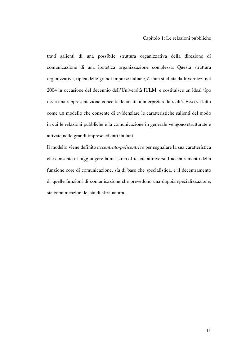 Anteprima della tesi: I metodi delle relazioni pubbliche e il ruolo della professione, Pagina 9