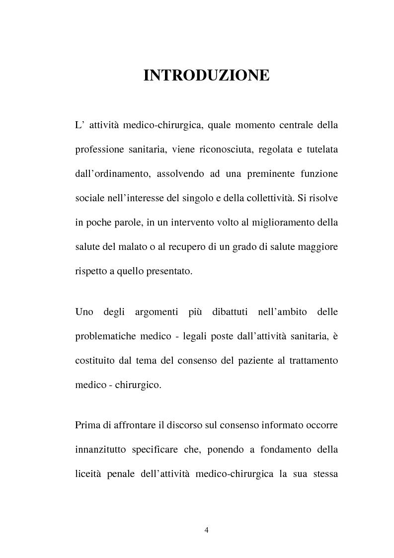Anteprima della tesi: Disciplina giuridica del consenso informato, Pagina 1