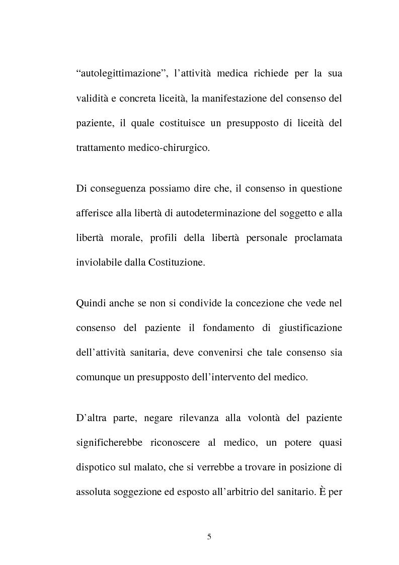 Anteprima della tesi: Disciplina giuridica del consenso informato, Pagina 2