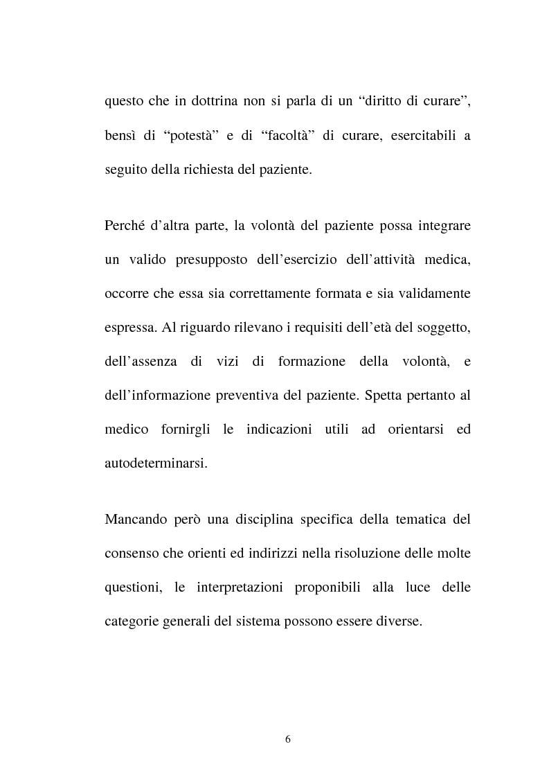 Anteprima della tesi: Disciplina giuridica del consenso informato, Pagina 3