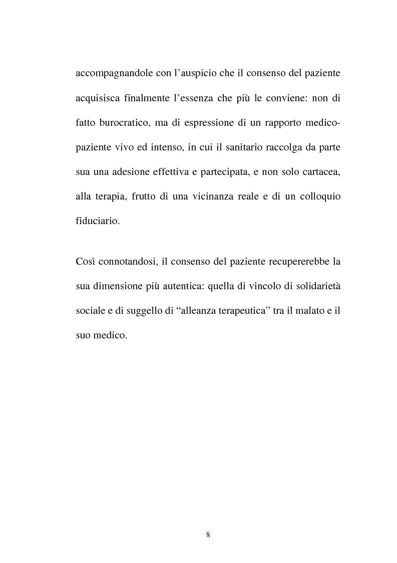 Anteprima della tesi: Disciplina giuridica del consenso informato, Pagina 5