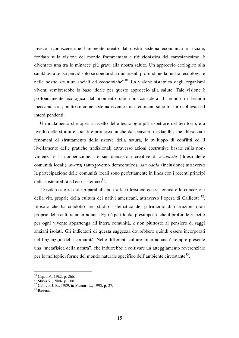 Anteprima della tesi: Il bene comune del territorio: sentire ecologico e cittadinanza nelle pratiche psicosociali, Pagina 12
