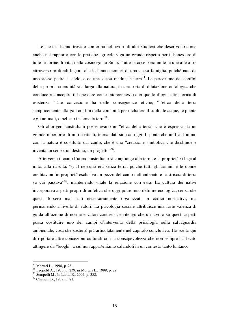 Anteprima della tesi: Il bene comune del territorio: sentire ecologico e cittadinanza nelle pratiche psicosociali, Pagina 13