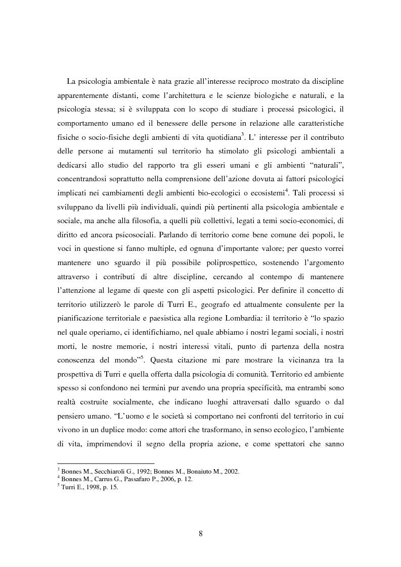 Anteprima della tesi: Il bene comune del territorio: sentire ecologico e cittadinanza nelle pratiche psicosociali, Pagina 5