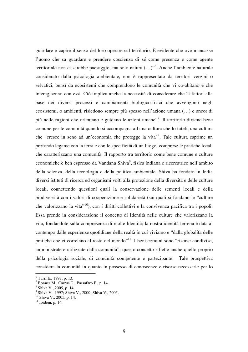 Anteprima della tesi: Il bene comune del territorio: sentire ecologico e cittadinanza nelle pratiche psicosociali, Pagina 6