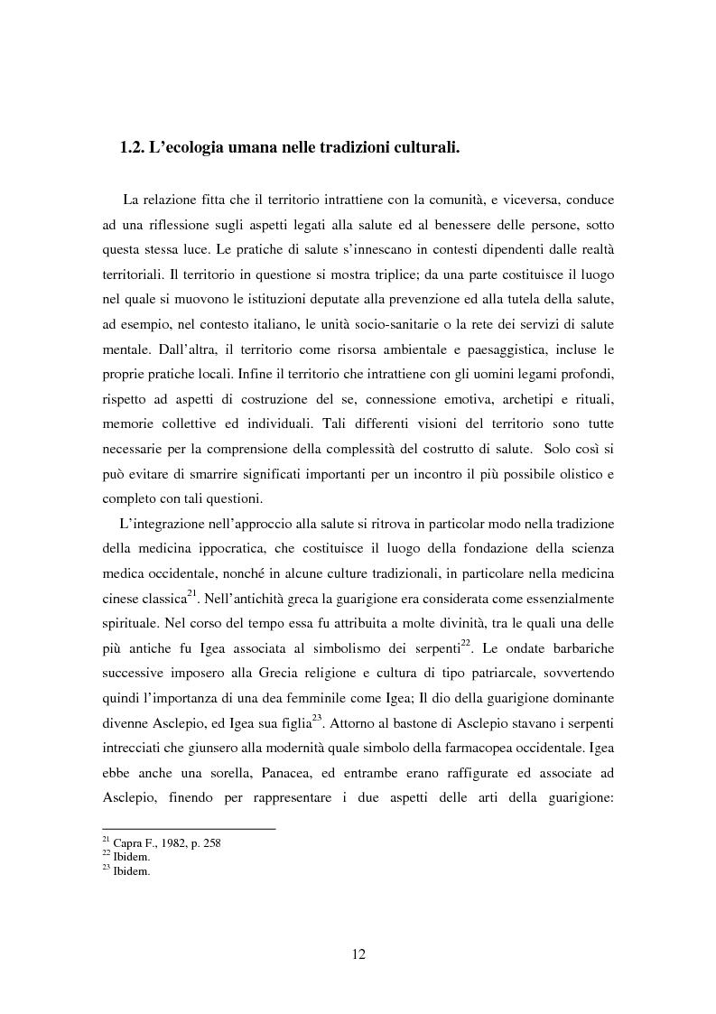 Anteprima della tesi: Il bene comune del territorio: sentire ecologico e cittadinanza nelle pratiche psicosociali, Pagina 9