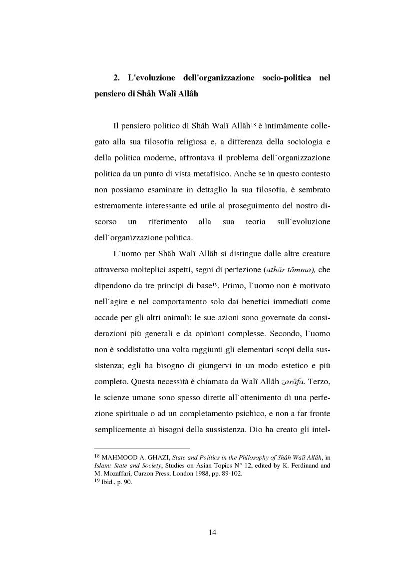 Anteprima della tesi: Din - Dunya - Dawla, Il significato politico dell'Islam tra conformità al modello ideale e potere reale, Pagina 14