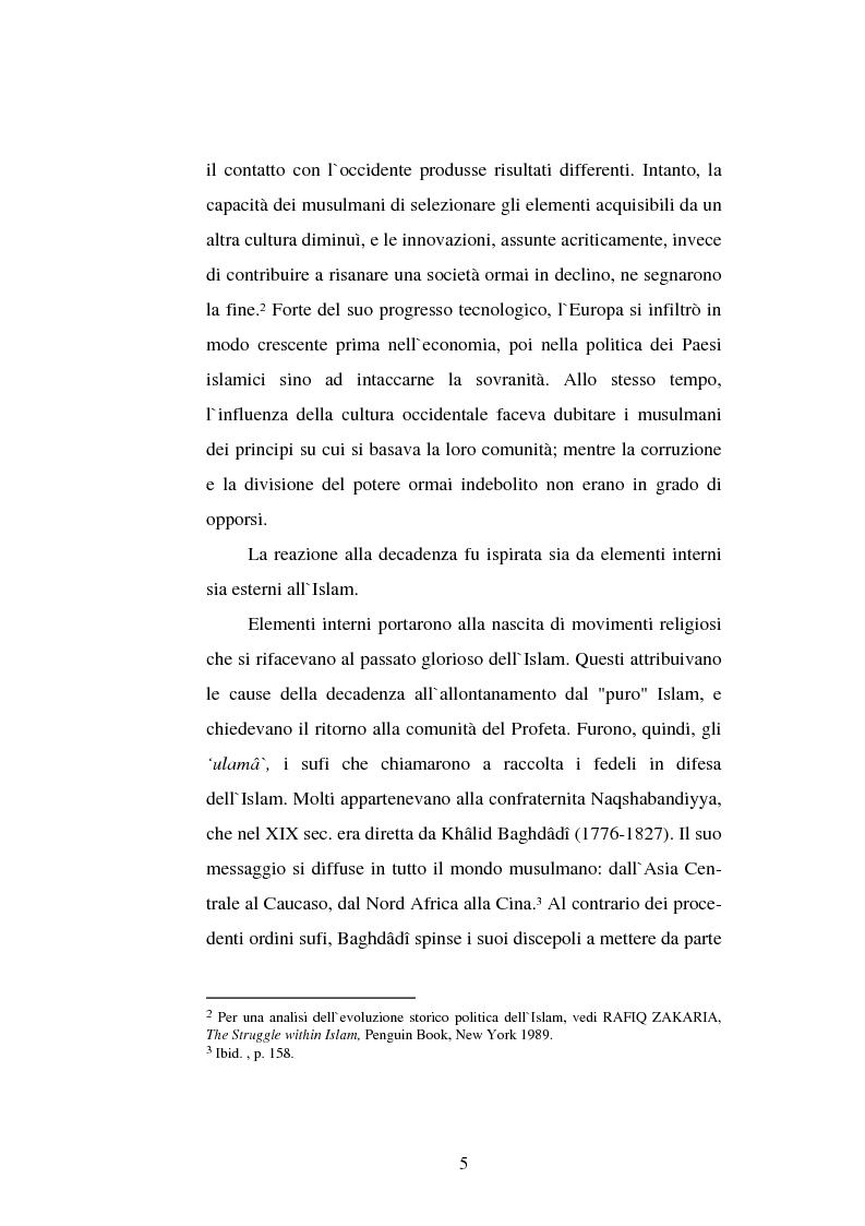 Anteprima della tesi: Din - Dunya - Dawla, Il significato politico dell'Islam tra conformità al modello ideale e potere reale, Pagina 5