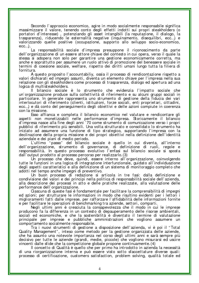 Anteprima della tesi: Responsabilità sociale d'Impresa e Certificazione Etica, Pagina 2