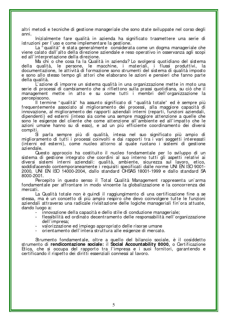 Anteprima della tesi: Responsabilità sociale d'Impresa e Certificazione Etica, Pagina 3
