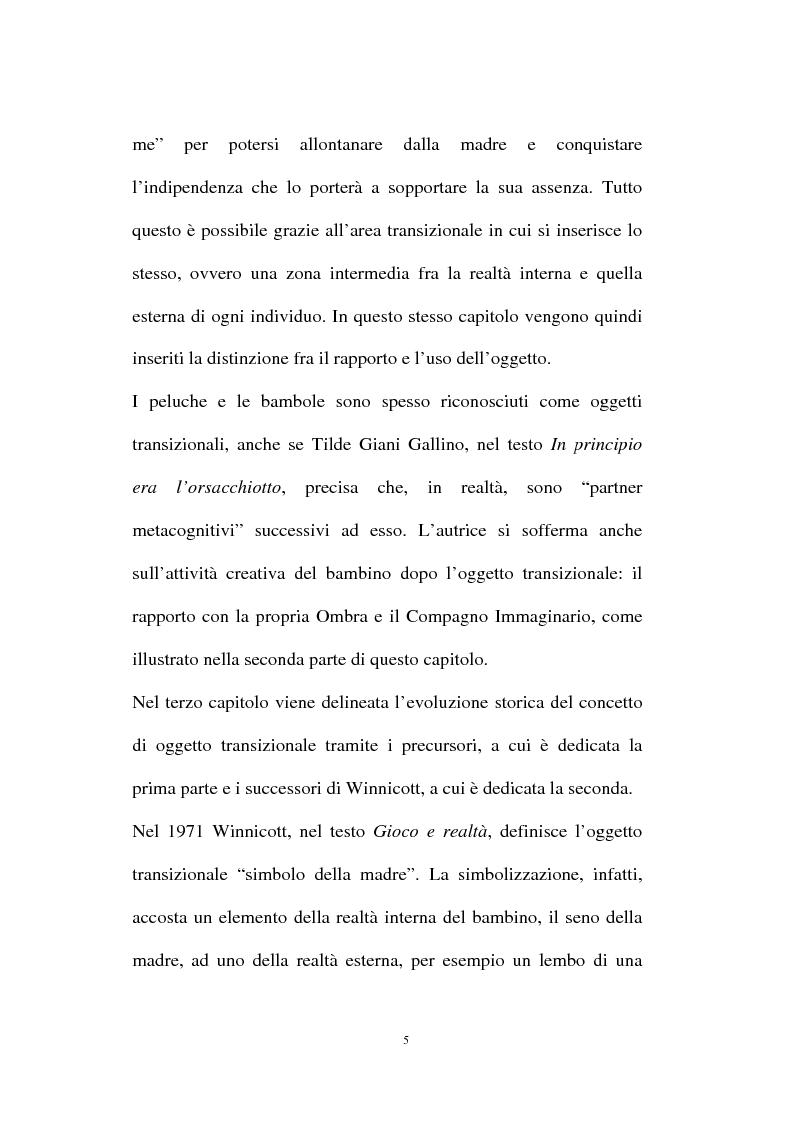 Anteprima della tesi: L'oggetto transizionale nell'epoca virtuale, Pagina 2