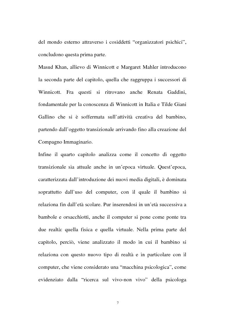 Anteprima della tesi: L'oggetto transizionale nell'epoca virtuale, Pagina 4