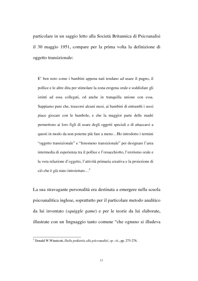 Anteprima della tesi: L'oggetto transizionale nell'epoca virtuale, Pagina 8
