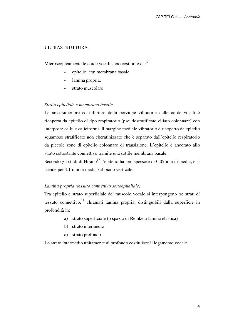 Anteprima della tesi: Ruolo della chirurgia laser nel trattamento delle recidive di carcinoma spinocellulare della laringe glottica in fase iniziale dopo radioterapia, Pagina 4