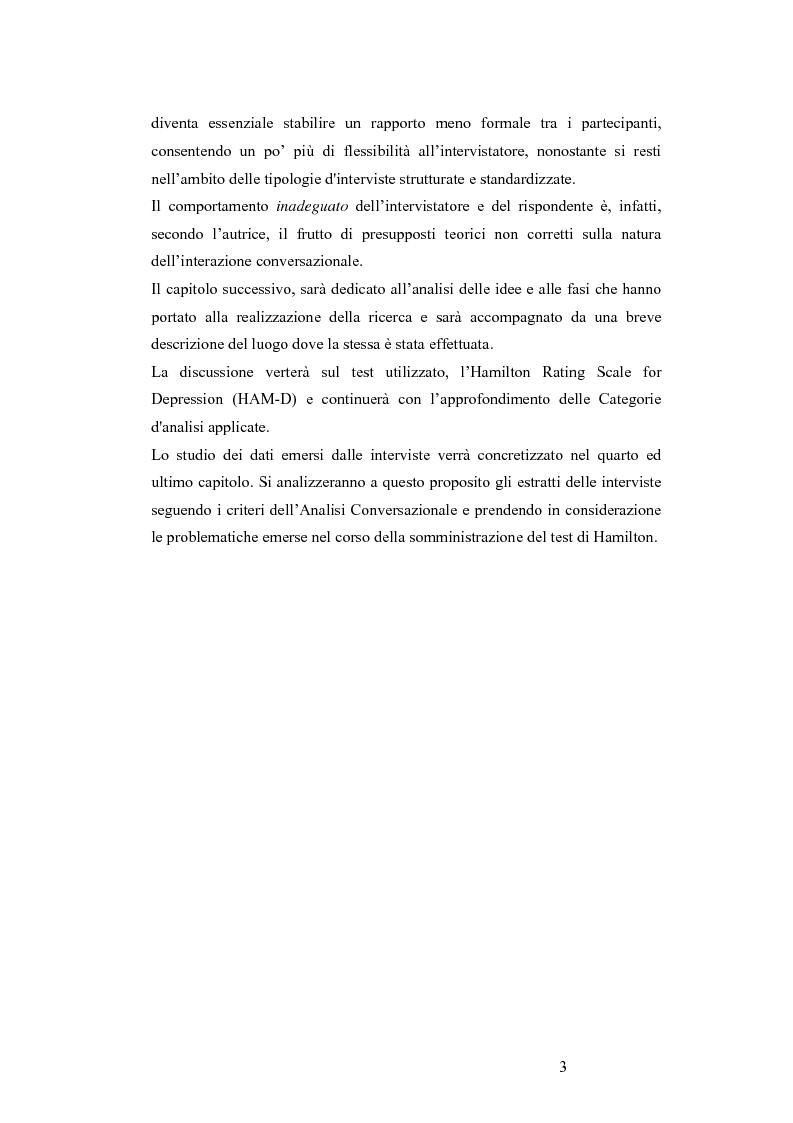 Anteprima della tesi: L'Hamilton Rating Scale for Depression: la somministrazione come pratica interattiva., Pagina 3