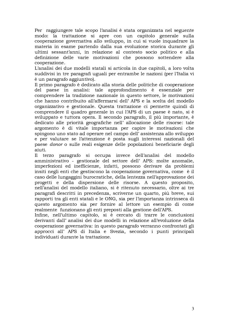 Anteprima della tesi: L'aiuto pubblico allo sviluppo (APS) e le priorità geografiche, due modelli a confronto. Svezia e Italia, Pagina 2