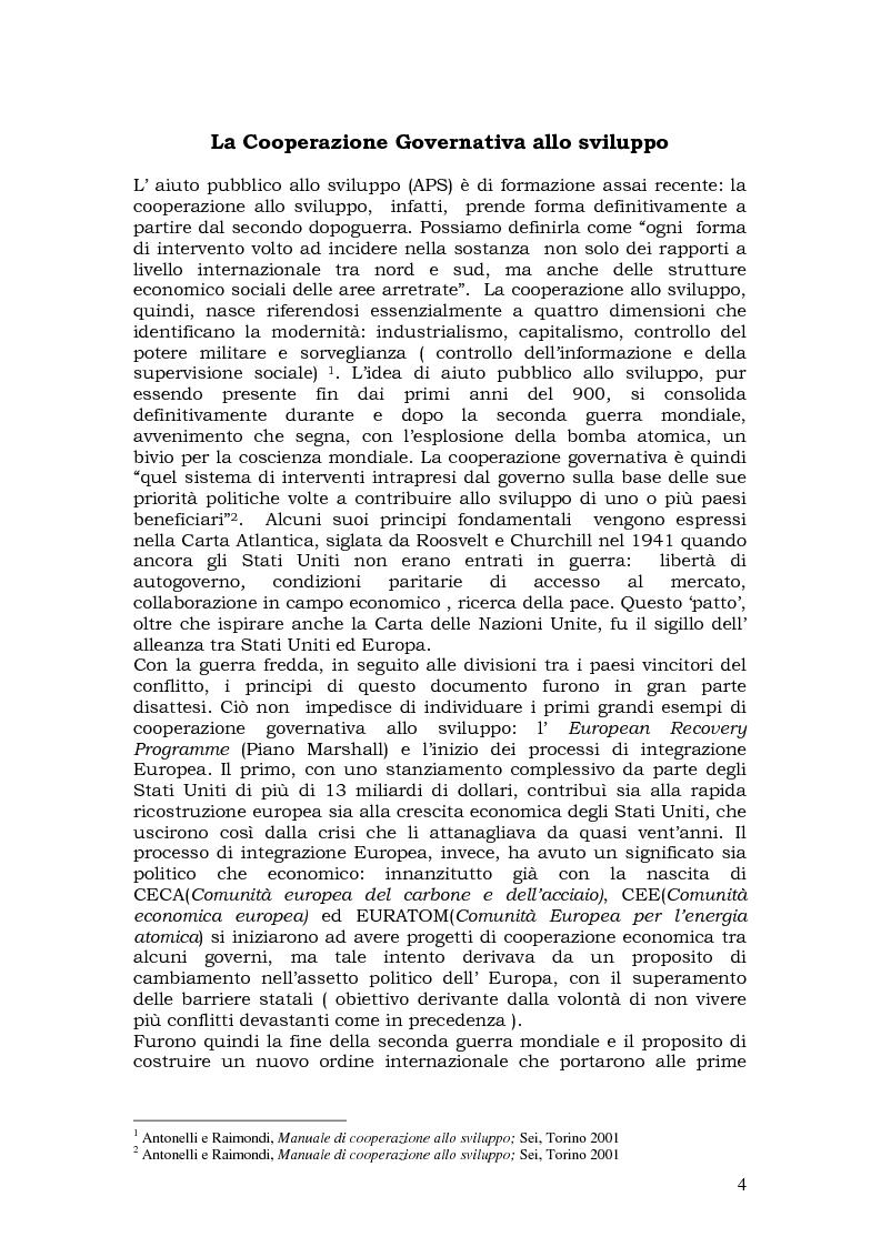 Anteprima della tesi: L'aiuto pubblico allo sviluppo (APS) e le priorità geografiche, due modelli a confronto. Svezia e Italia, Pagina 3