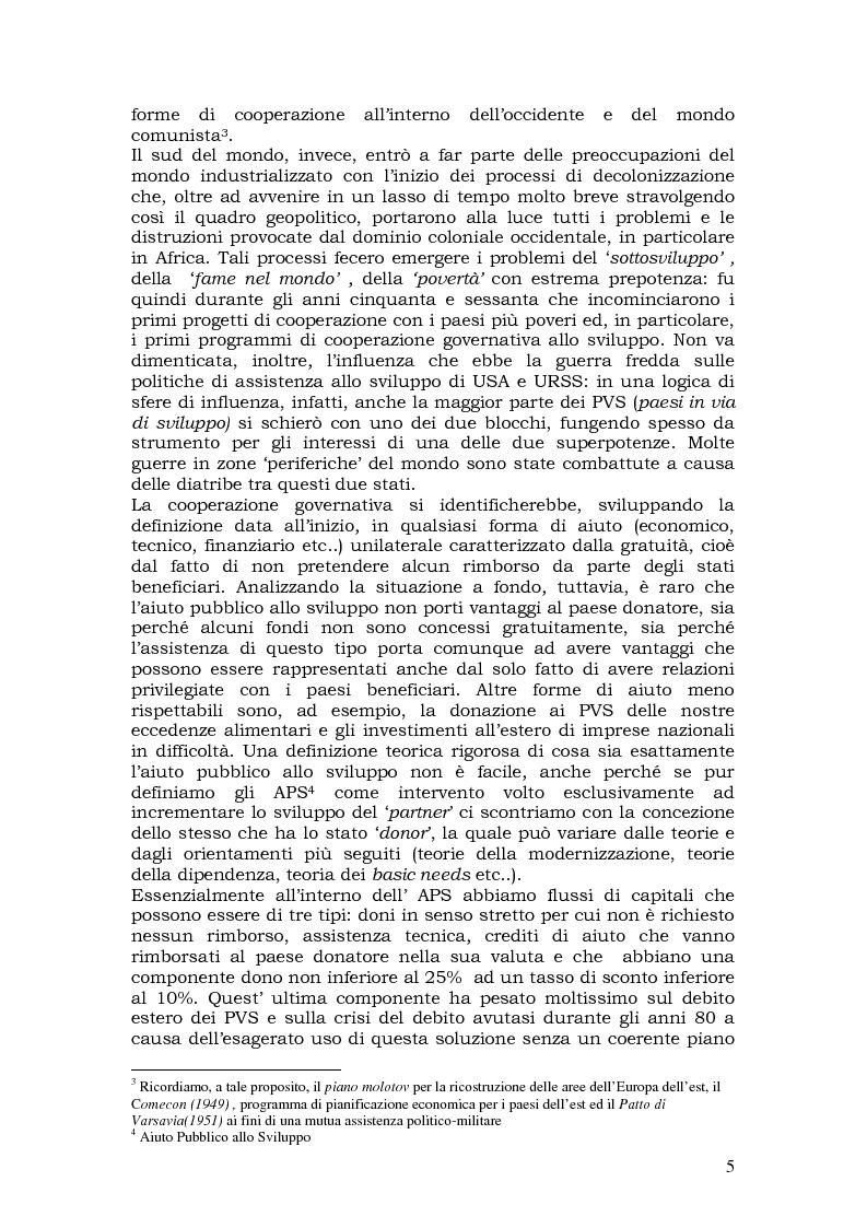 Anteprima della tesi: L'aiuto pubblico allo sviluppo (APS) e le priorità geografiche, due modelli a confronto. Svezia e Italia, Pagina 4