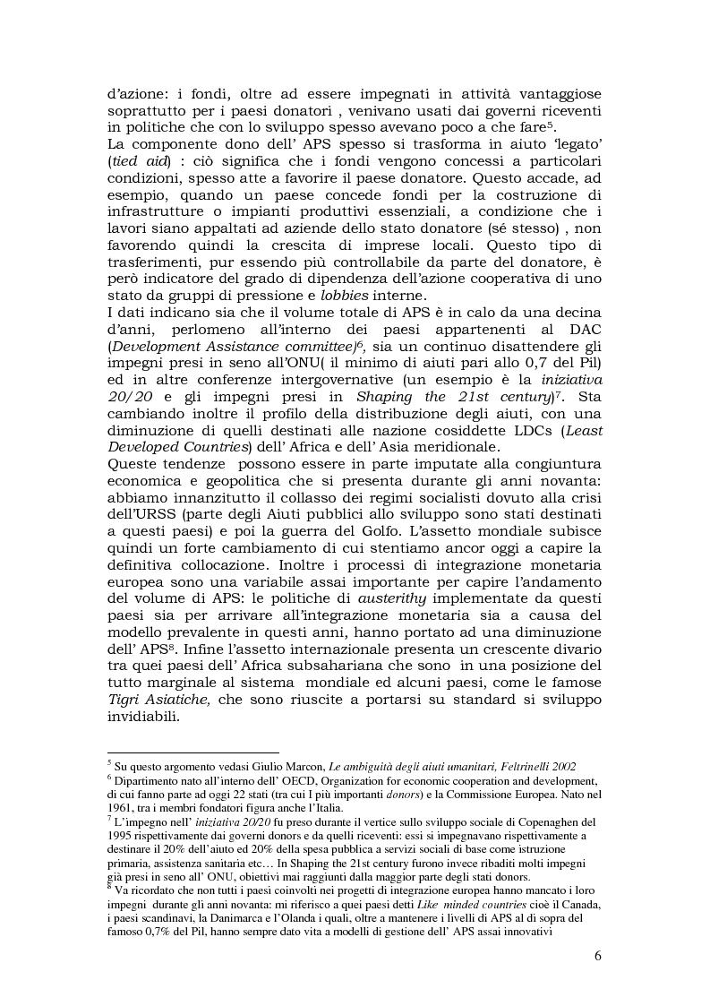 Anteprima della tesi: L'aiuto pubblico allo sviluppo (APS) e le priorità geografiche, due modelli a confronto. Svezia e Italia, Pagina 5