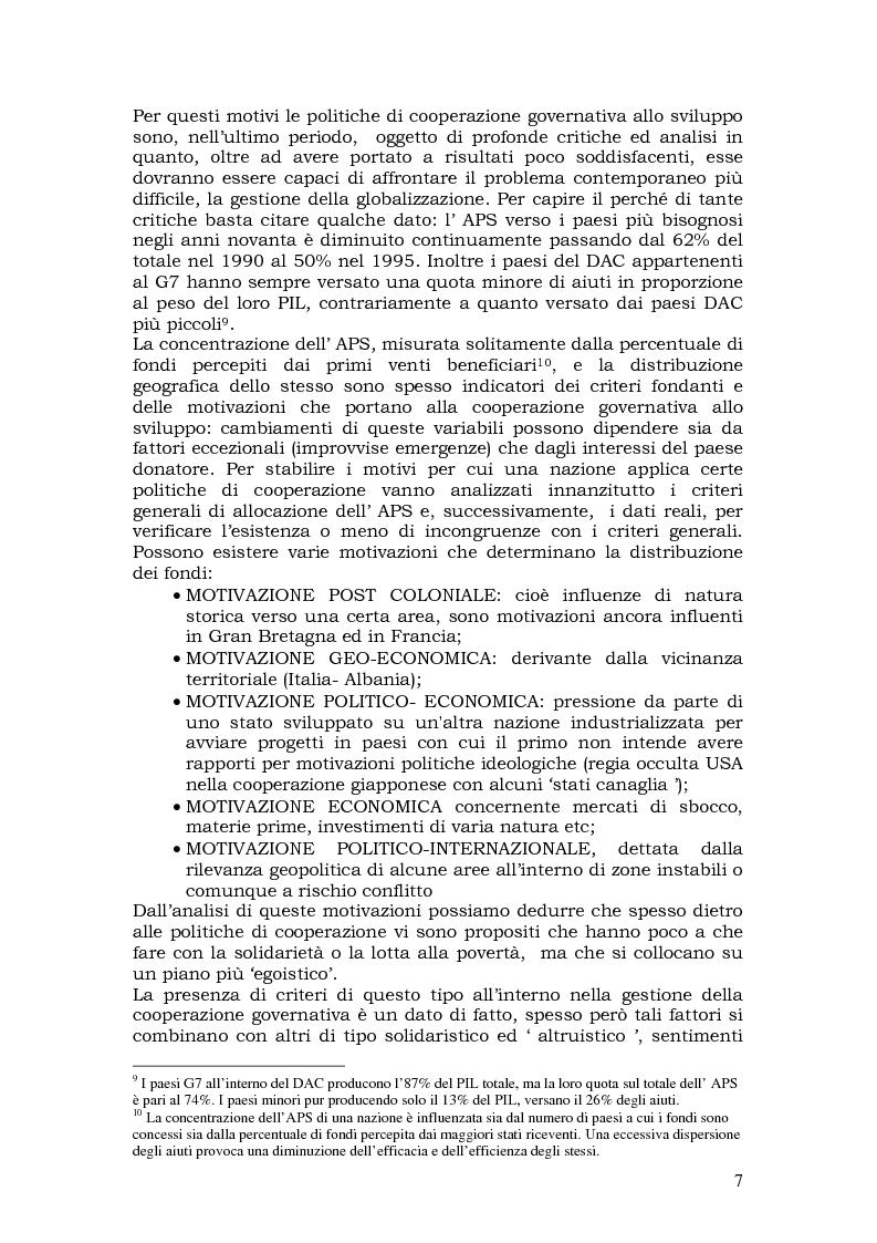 Anteprima della tesi: L'aiuto pubblico allo sviluppo (APS) e le priorità geografiche, due modelli a confronto. Svezia e Italia, Pagina 6