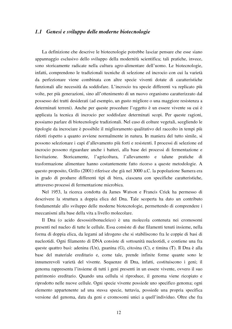 Anteprima della tesi: Le attitudini al consumo di alimenti Geneticamente Modificati: uso dei Modelli a Scelta Discreta per l'analisi del caso Trentino, Pagina 8