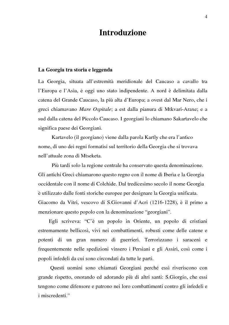 Anteprima della tesi: Dal collasso ad una lenta rinascita. La Georgia dal 1989 al 2000, Pagina 1