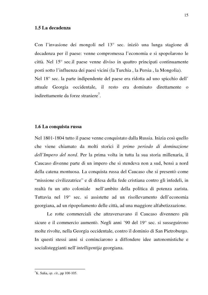 Anteprima della tesi: Dal collasso ad una lenta rinascita. La Georgia dal 1989 al 2000, Pagina 12