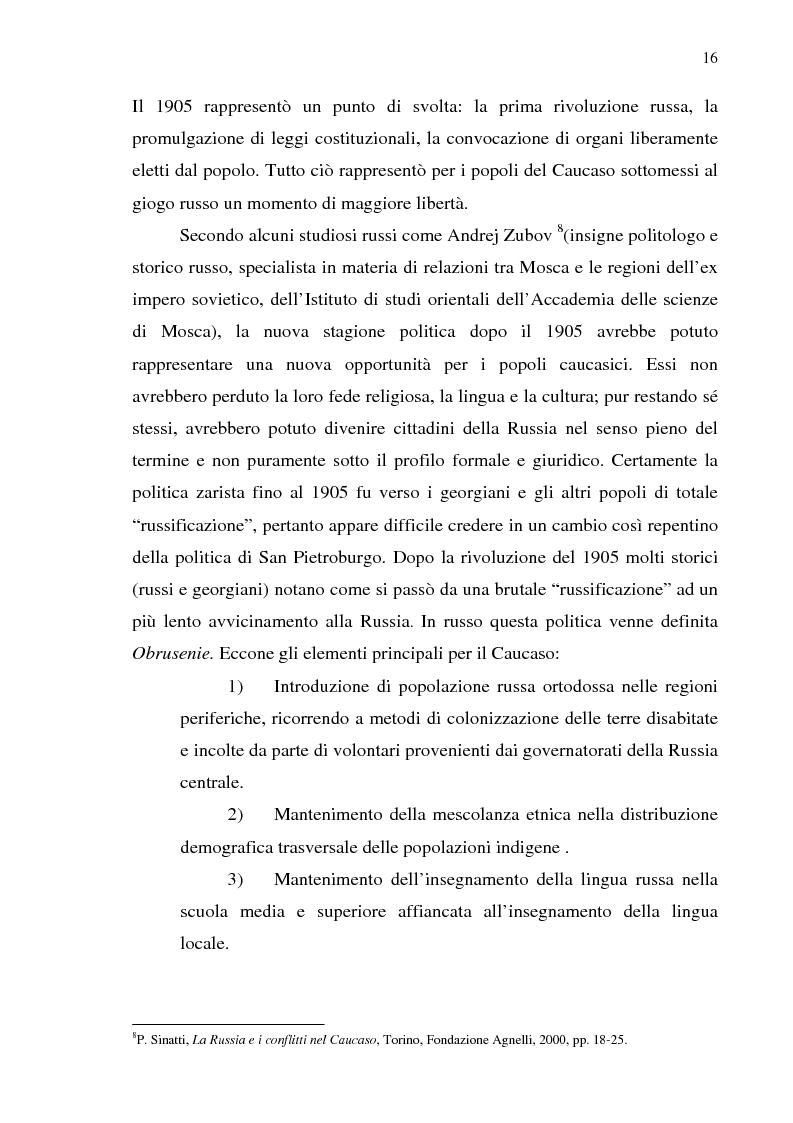 Anteprima della tesi: Dal collasso ad una lenta rinascita. La Georgia dal 1989 al 2000, Pagina 13