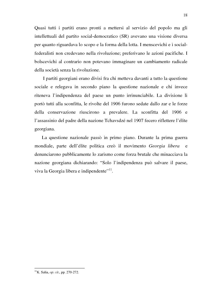 Anteprima della tesi: Dal collasso ad una lenta rinascita. La Georgia dal 1989 al 2000, Pagina 15