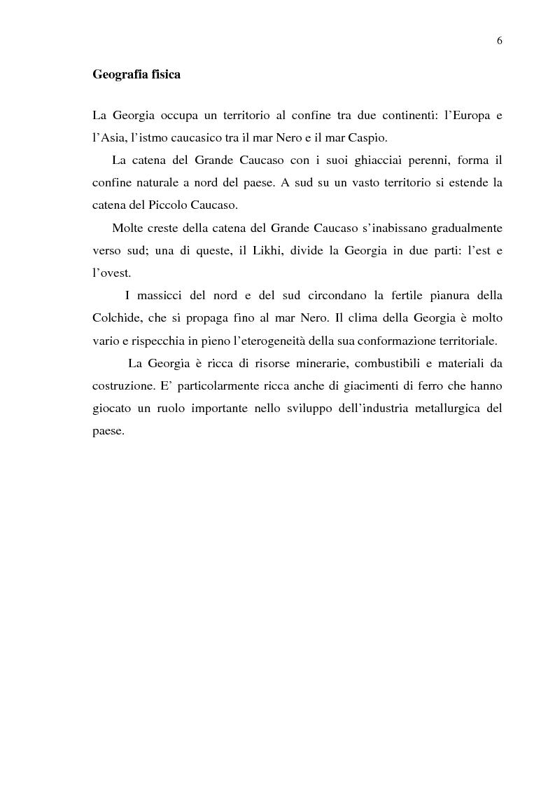Anteprima della tesi: Dal collasso ad una lenta rinascita. La Georgia dal 1989 al 2000, Pagina 3